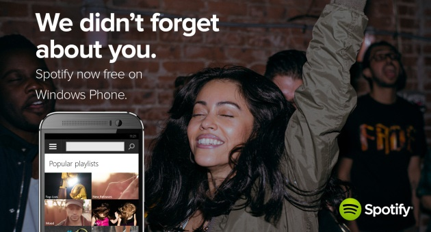 news-spotify-windowsphone Windows Phone w końcu doczekał się darmowego Spotify