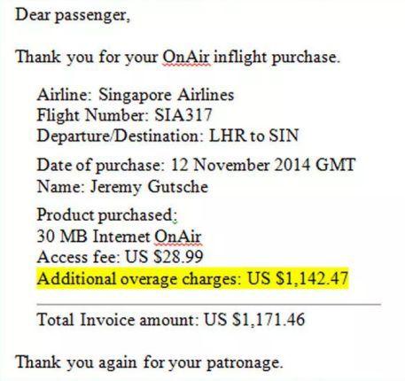 news-rachunek-wifi1 Oszałamiający rachunek za korzystanie z Internetu na pokładzie samolotu