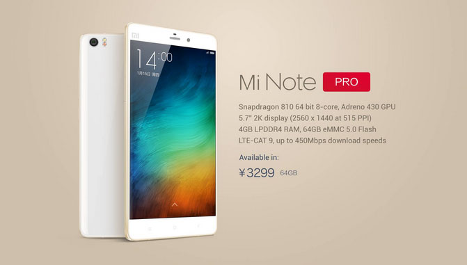 news-xiaomi-note-pro-1 Xiaomi Mi Note oraz Mi Note Pro oficjalnie! Pojawiła się konkurencja dla iPhone'a 6 Plus