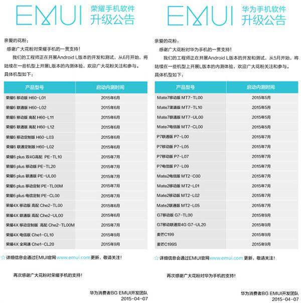 news-huawei-lollipop-roadmap Huawei zacznie aktualizować swoje smartfony do Lollipopa od przyszłego miesiąca