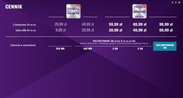 news-play-formuła-smartfon-unlimited Formuła Smartfon: Nowe oferty Play z nielimitowanym Internetem i darmowym roamingiem