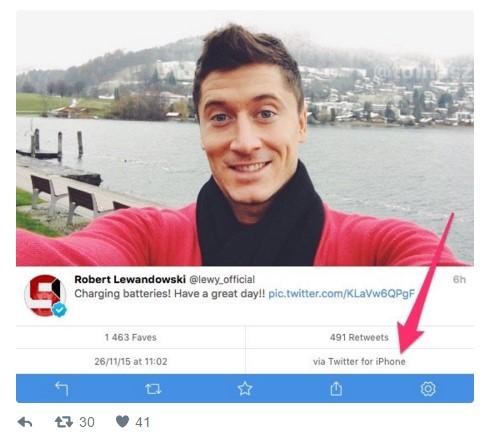 news-robert_lewandowski-twitter-1 Robert Lewandowski przyłapany na korzystaniu z iPhone'a, choć jest ambasadorem Huawei