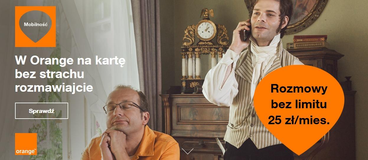 Doładowania-internet Orange Free na kartę