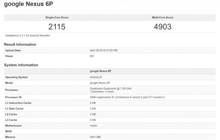 news-nexus6p-2016 Nowy Nexus 6P dostrzeżony w Geekbench