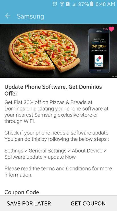 news-samsung-pizza Samsung znalazł nietypową zachętę do aktualizacji smartfonów
