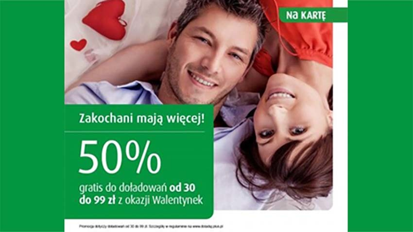 Promocja Plus: 50% więcej dla zakochanych