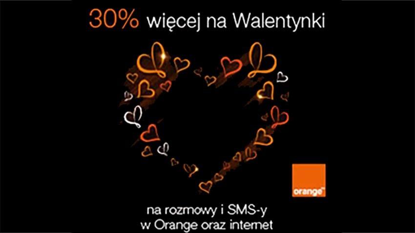 Promocja Orange: 30% więcej na Walentynki