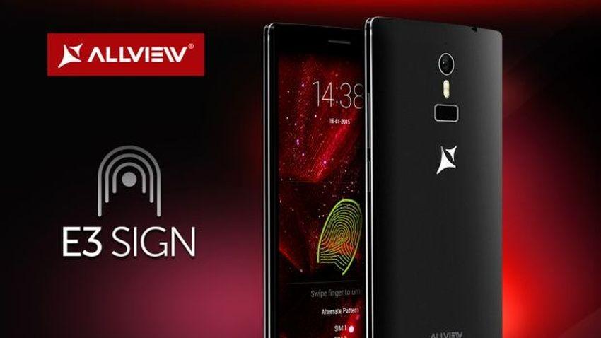 Allview E3 Sign - smartfon z czytnikiem linii papilarnych i dual-SIM