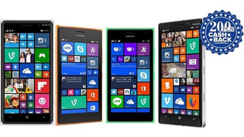 Microsoft zwraca pieniądze przy zakupie smartfonów Lumia