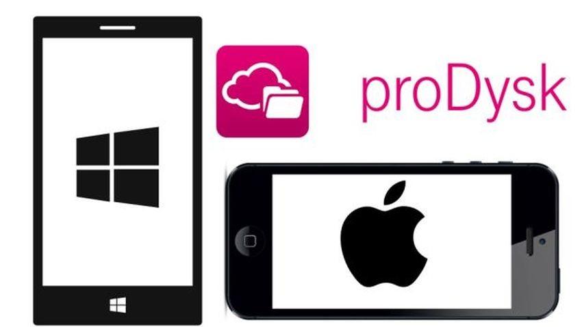 proDysk od T-Mobile już na urządzeniach z iOS i Windows Phone