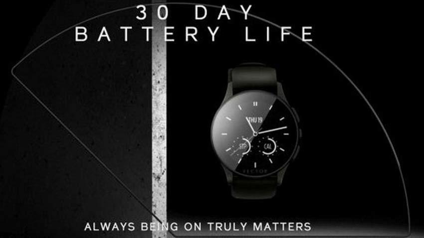Smartwatch Vector zapewni 30 dni działania na jednym ładowaniu