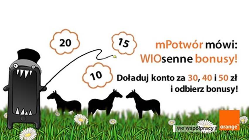 Photo of Promocja Orange: Wiosenne doładowania z mPotworem
