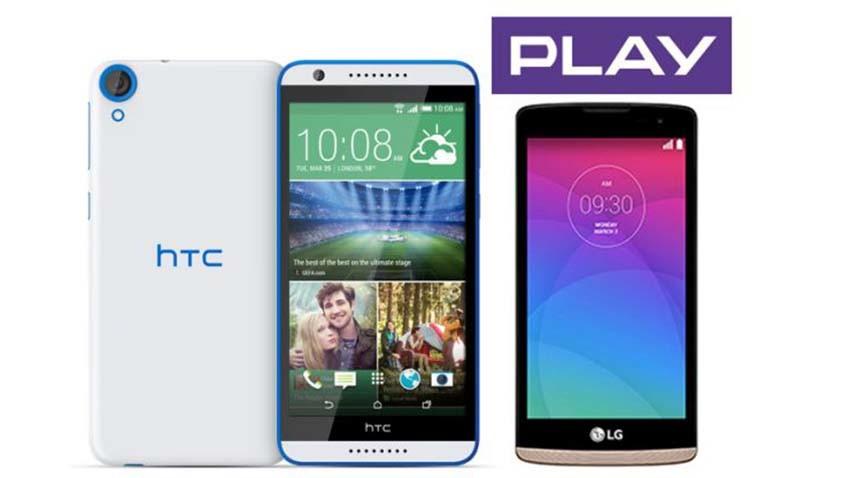 LG Leon LTE i HTC Desire 820 w Play