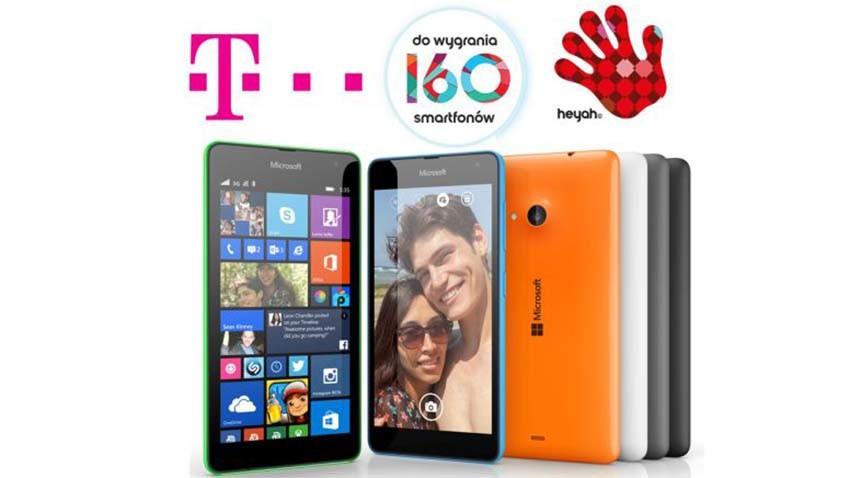 Heyah/T-Mobile: Codziennie do wygrania smartfony Microsoft Lumia 535