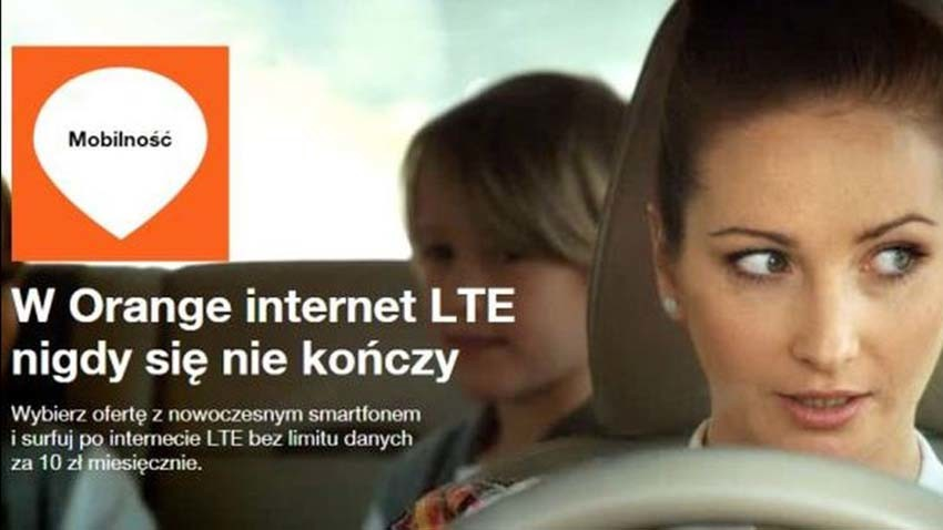 Orange: LTE bez limitu za 10 zł miesięcznie