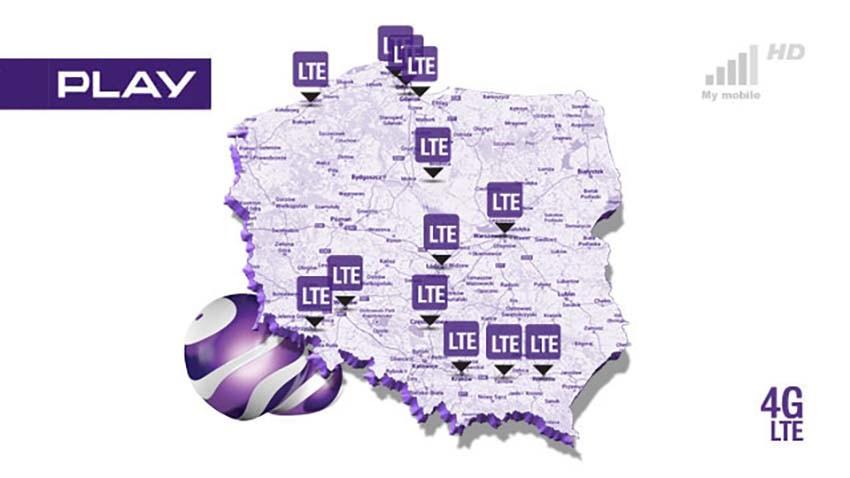 Play: Fioletowe LTE w niemal każdej miejscowości powyżej 15 tysięcy mieszkańców