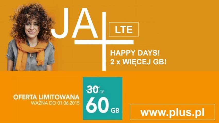 Promocja Plus: 60 GB Internetu z Happy Days
