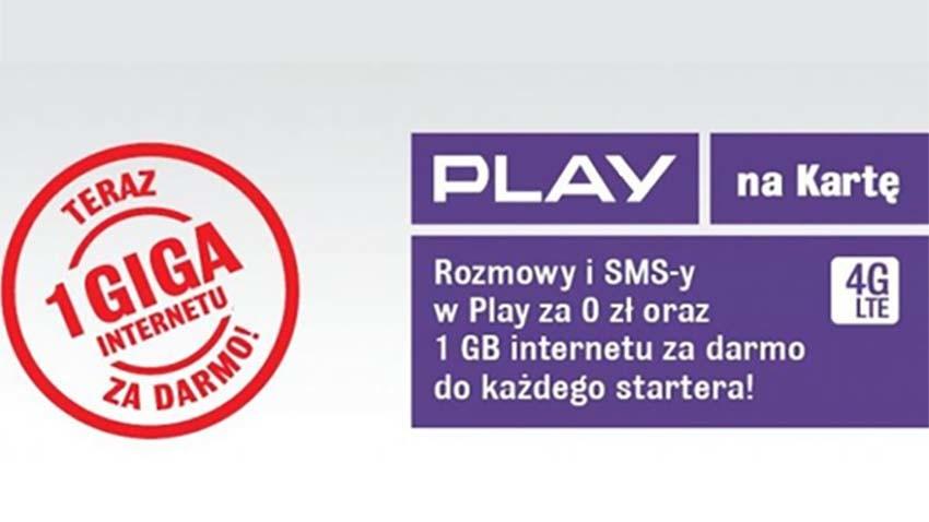 Promocja Play: 1 GB gratis przy zakupie startera
