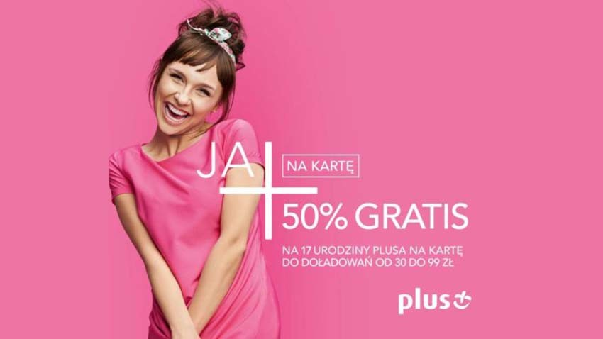 Promocja Plus: 50% więcej za doładowanie przez Internet