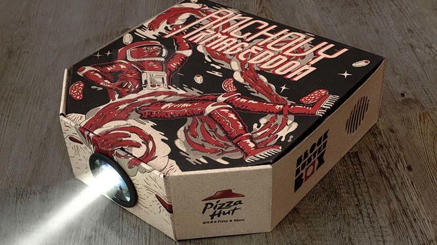 Pizza Hut oferuje klientom opakowania pełniące rolę projektora filmowego