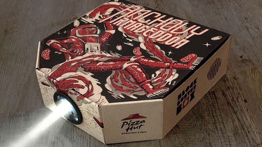 Photo of Pizza Hut oferuje klientom opakowania pełniące rolę projektora filmowego