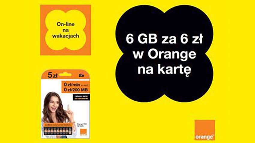 Photo of Promocja Orange: 6 GB na wakacje