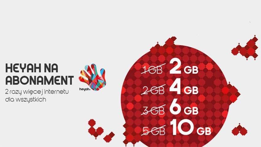 Od teraz w SmartfoNOWEJ Heyah na abonament dwa razy więcej Internetu