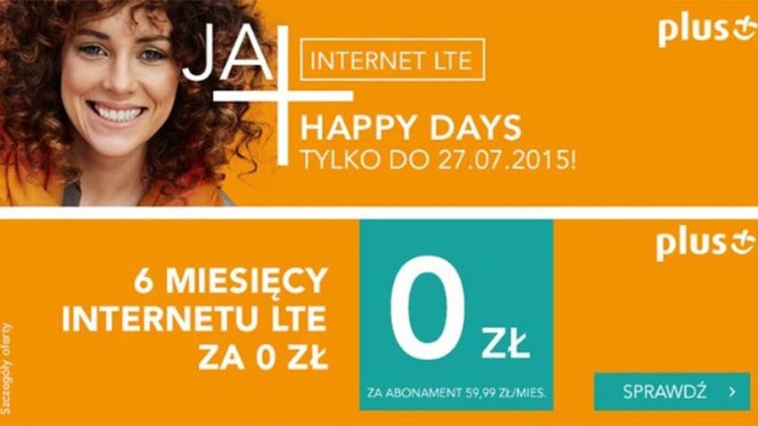Promocja Plus: Pół roku darmowego Internetu LTE