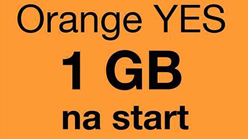 Orange: Starter YES z pakietem 1 GB