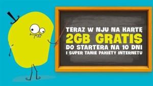 Promocje Nju Mobile: 2 GB gratis i bon na paliwo
