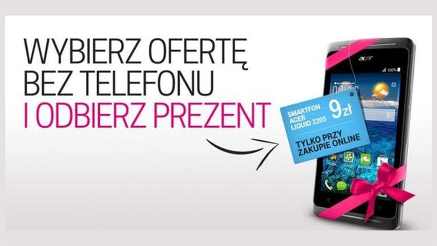 T-Mobile: Oferta Internetu mobilnego z gratisowym smartfonem Acer Liquid Z205
