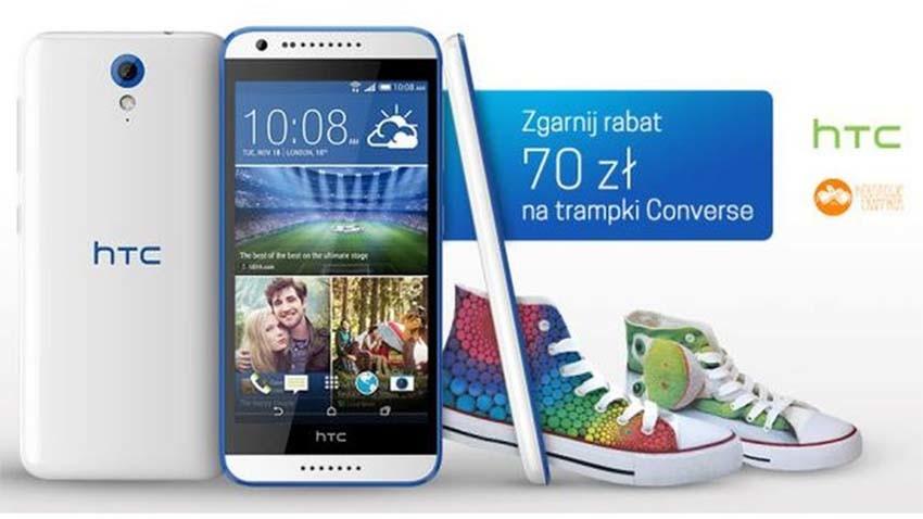 Promocja T-Mobile: HTC Desire 620 z kuponem na modne trampki