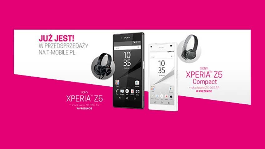 T-Mobile: Sony Xperia Z5 i Z5 Compact z prezentem dla wszystkich klientów