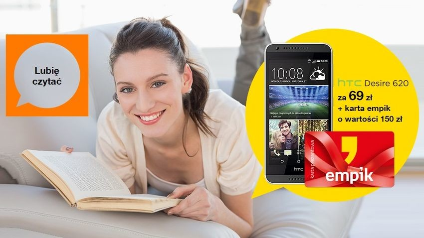 Promocja Orange: HTC Desire 620 z kartą Empiku