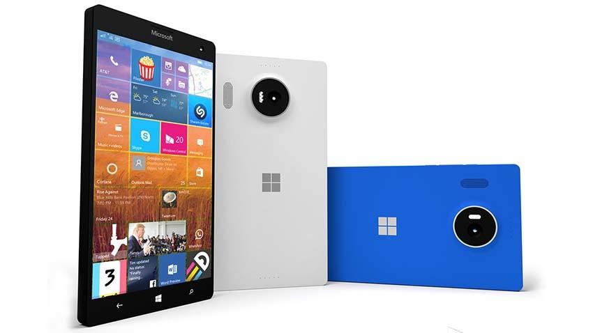 Microsoft Lumia 950 XL na zdjęciu prasowym