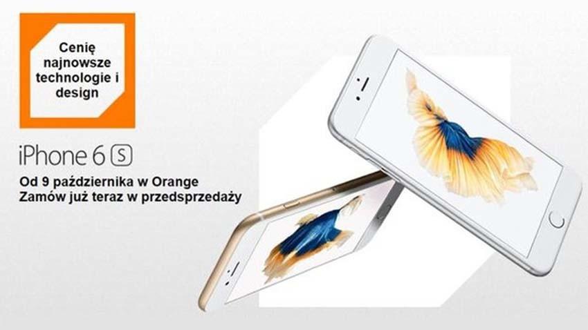 Orange: iPhone-y 6S i 6S Plus w przedsprzedaży