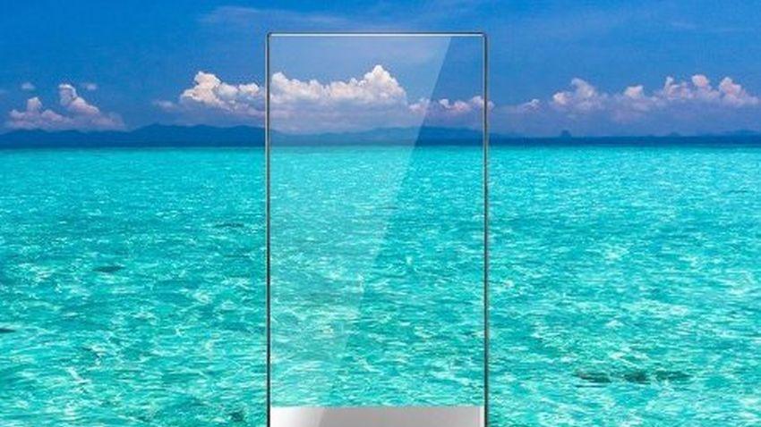 Bezramkowy smartfon Sharpa