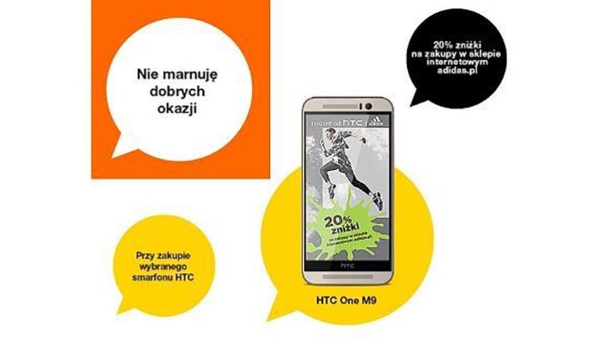 Promocja Orange: Rabat na produkty Adidas za kupno smartfona HTC