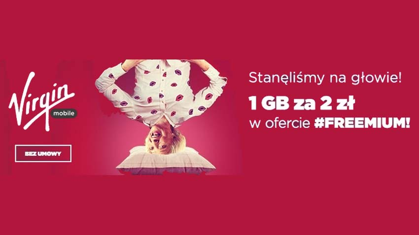 Promocja Virgin Mobile: 1 GB za 2 zł