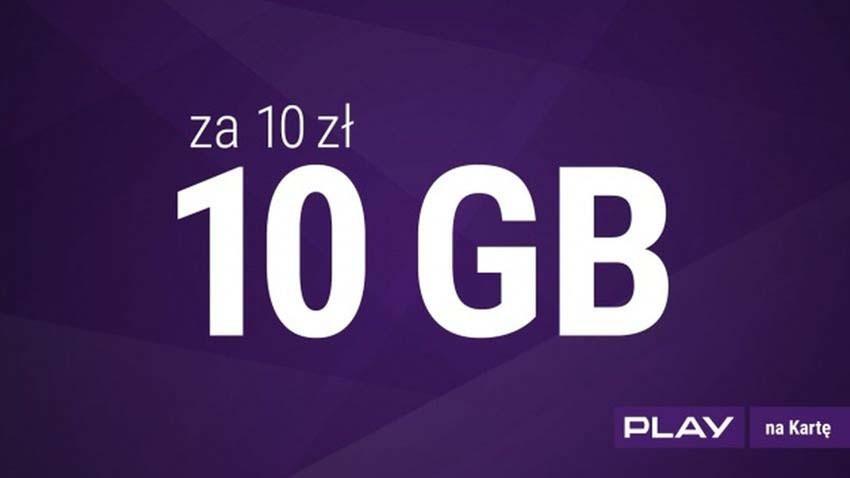 Play przedłuża ofertę na 10 GB Internetu za 10 zł
