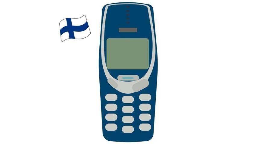 Finlandia - Nokia 3310 jako jedna z narodowych emotikon