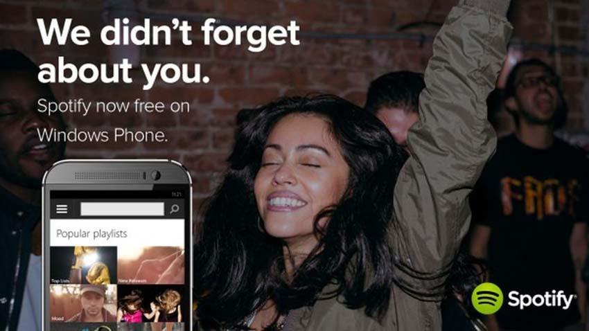 Windows Phone w końcu doczekał się darmowego Spotify