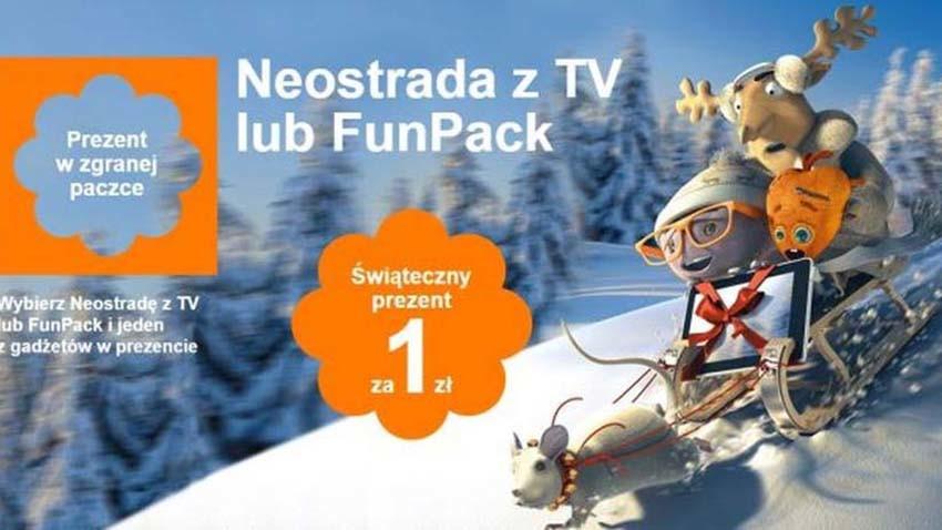 Orange: Neostrada i FunPack z abonamentem komórkowym