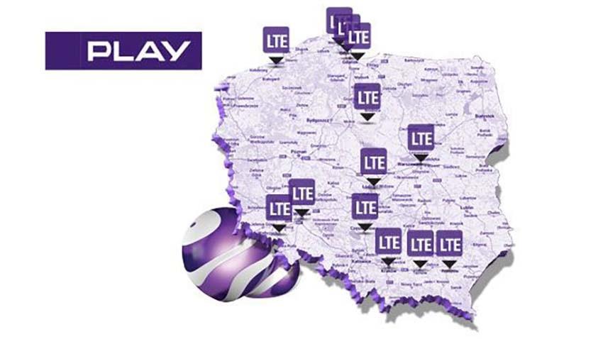 Zasięg LTE w Play sięga kolejnych miejscowości