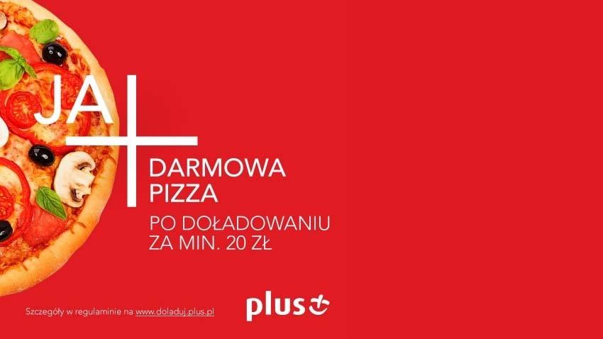 Promocja Plus: Pizza gratis za doładowanie internetowe