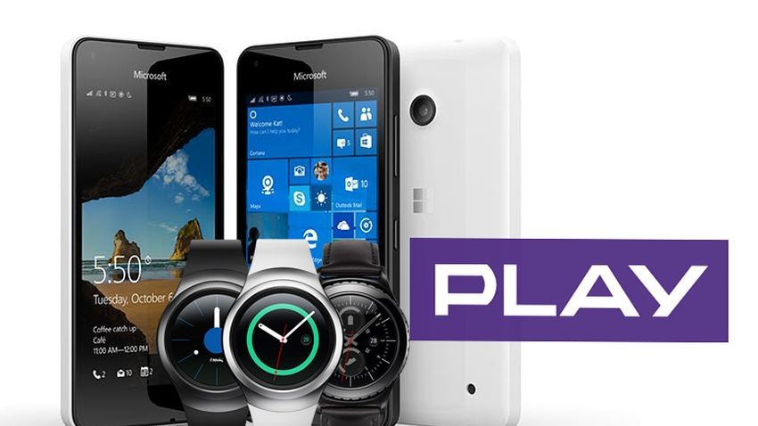 Samsung Gear S2 i Microsoft Lumia 550 w Play