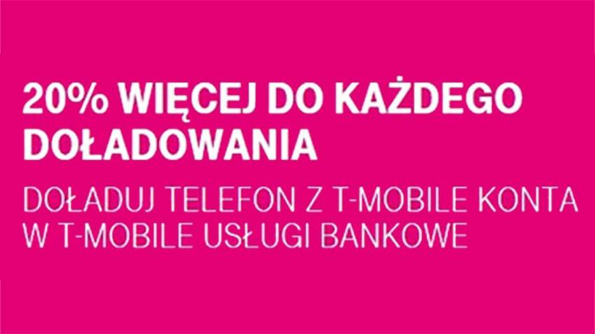 Promocja T-Mobile: Doładowania większe aż do 20%