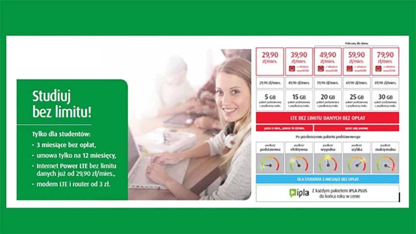 Promocja Plus: 3 miesiące Internetu za darmo dla studentów