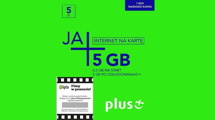 Plus oferuje darmowe startery JA+ Internet Na Kartę