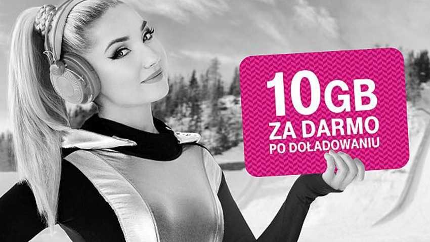 T-Mobile: 10 GB po doładowaniu na kartę i Mix przedłużone